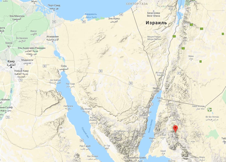 Гора Синай - Джабал Макла (часть горного хребта Джабал аль-Лоуз на северо-западе Саудовской Аравии)