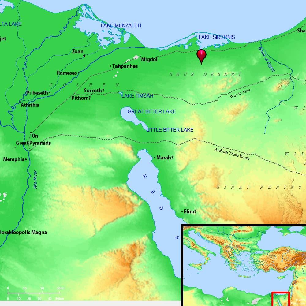 В книге Бытия Авраам некоторое время жил в Ханаане недалеко от древнего места Кадеш. BibleAtlas.org