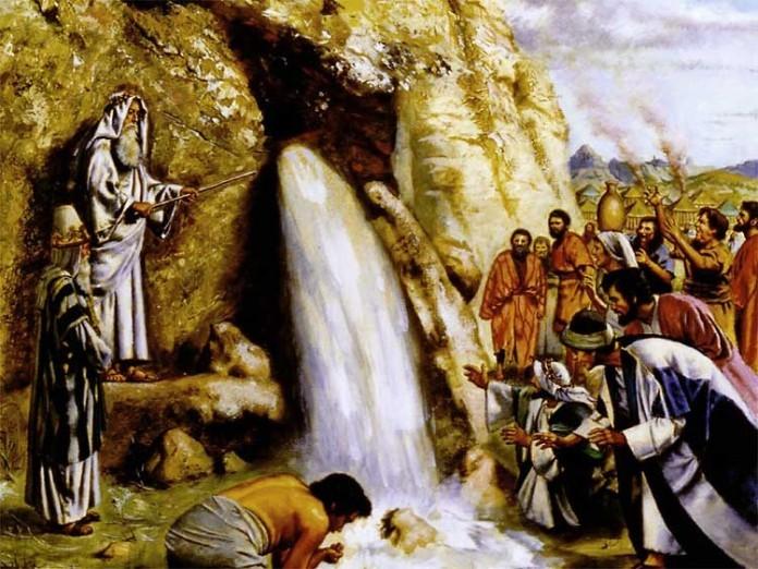 Скала, по которой ударил Моисей - прообраз Христа